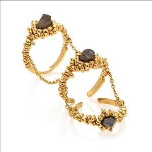 Trio ring with chain